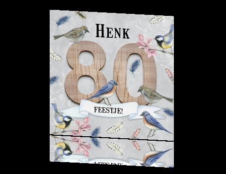 Bekend Uitnodiging tachtig jaar met hout en vogels &EO81